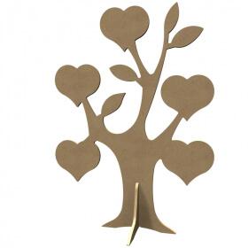 Arbre coeur à décorer - Gomille - Em création