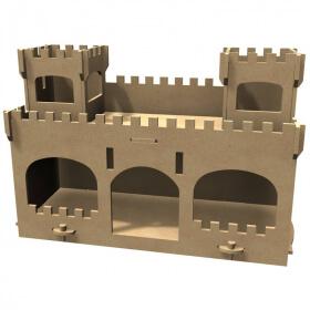 Chateau en bois à décorer - Gomille - Em création