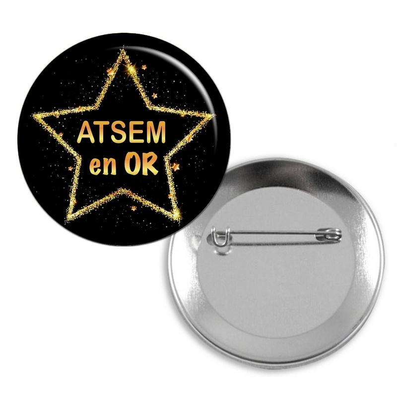Badge Atsem en or - angora
