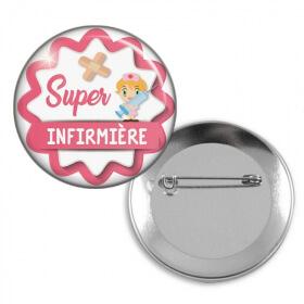 Badge épingle pour super infirmière - Em création - Em création