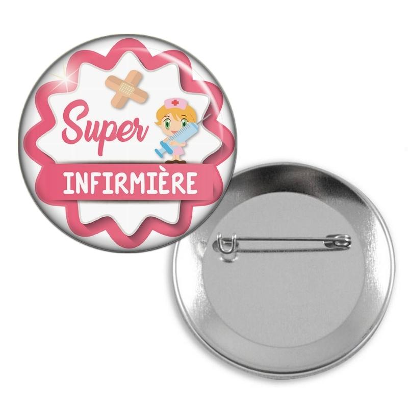 Badge épingle pour super infirmière - Em création