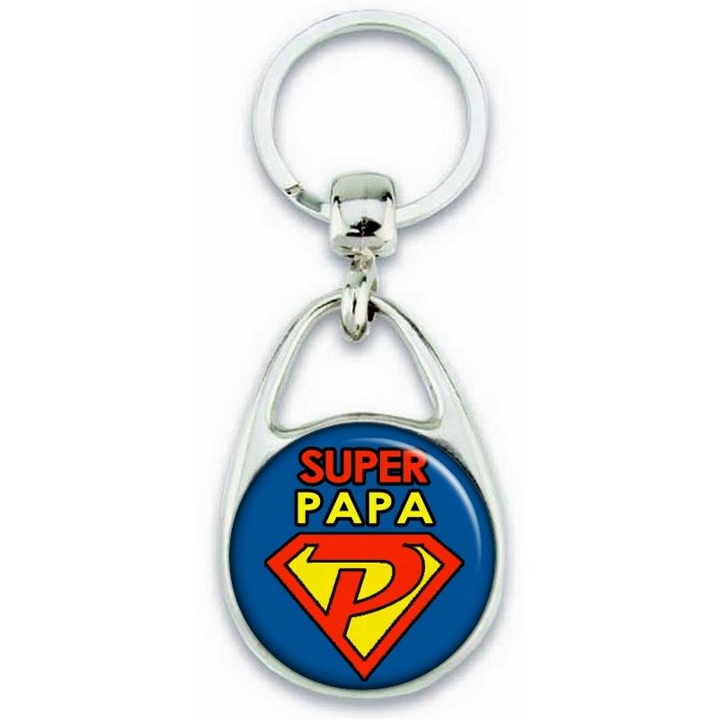Porte clés papa - Super Papa - idée cadeau fête des pères - cadeau anniversaire de papa