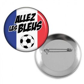 Badges Allez les bleus - Equipe de France - Em création