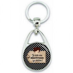 Porte clés maitresse - idée cadeau maitresse - cadeau fin d'année scolaire - Em création