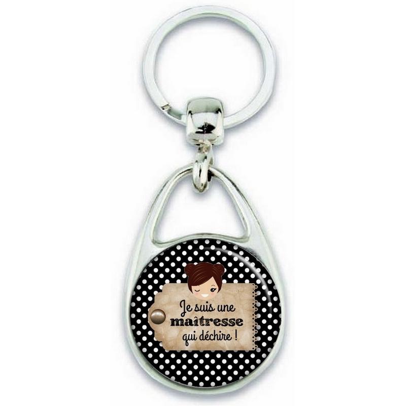 Porte clés maitresse - idée cadeau maitresse - cadeau fin d'année scolaire