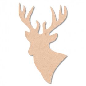 Cerf à décorer - En bois - Miris - Em création