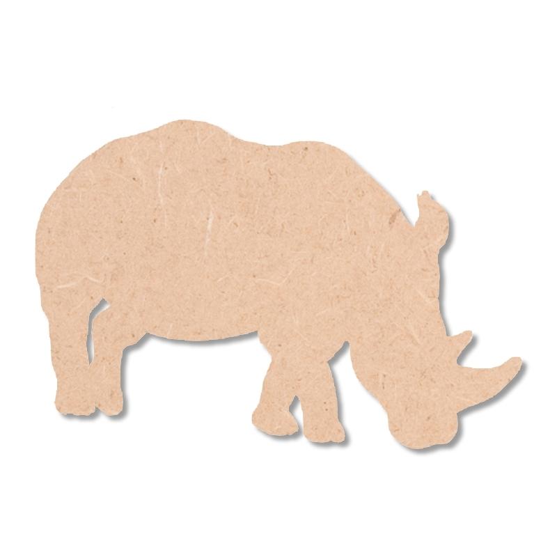 Rhinocéros à peindre - En bois - Miris
