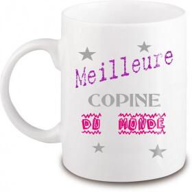 Mug copine - Idée cadeau copine - Tasse copine - angora - Em création