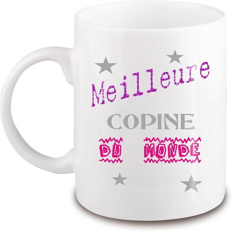 Mug copine - Idée cadeau copine - Tasse copine - angora