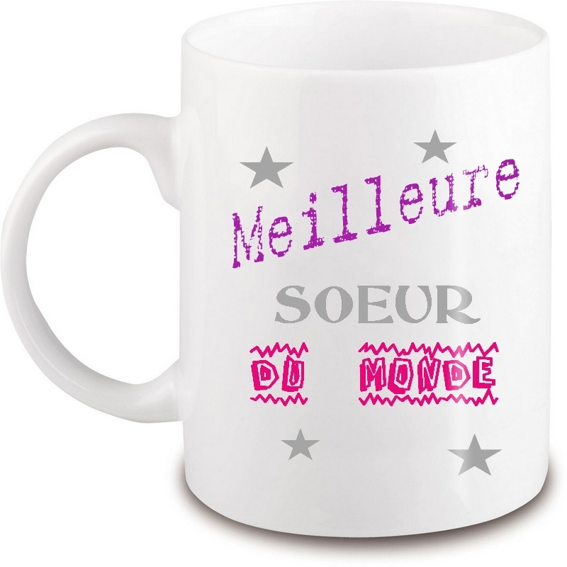 Mug soeur - Idée cadeau soeur - Tasse soeur - angora