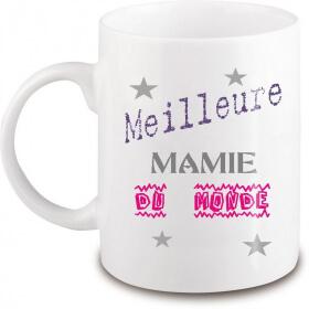 Mug mamie - Idée cadeau mamie - Tasse mamie - angora - Em création