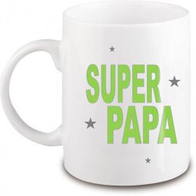 Mug Papa - Idée cadeau Papa - Anniversaire - Fête des pères - Tasse - angora - Em création