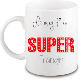 Mug frangin - Idée cadeau frère - Anniversaire frangin - Mug Frère - Tasse frère- angora - Em création