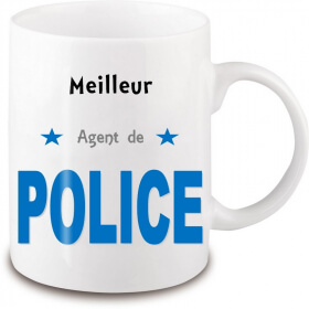 Mug police - Idée cadeau originale policier - angora - Em création