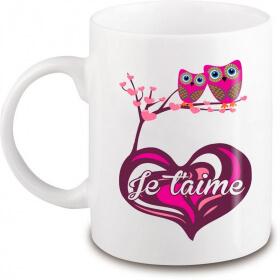 Mug je t'aime - Amour - Cadeau saint valentin - angora - Em création