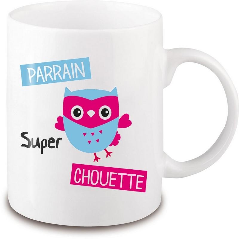 Mug chouette parrain - Cadeau original parrain - Tasse originale parrain - angora