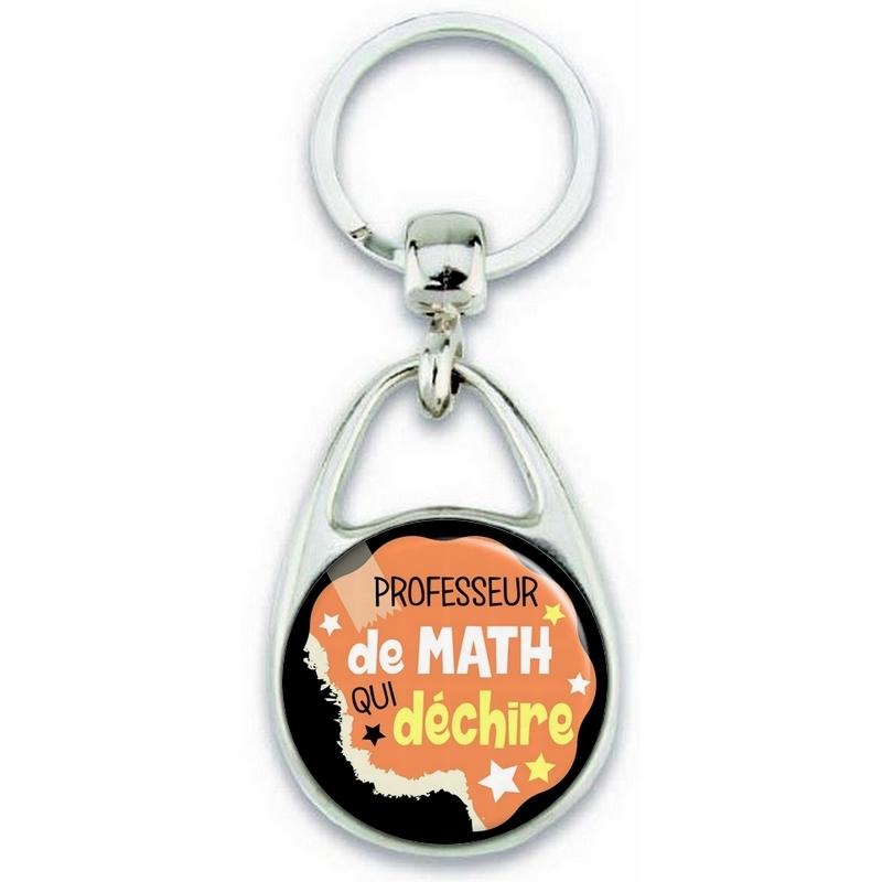 Porte clés professeur de math