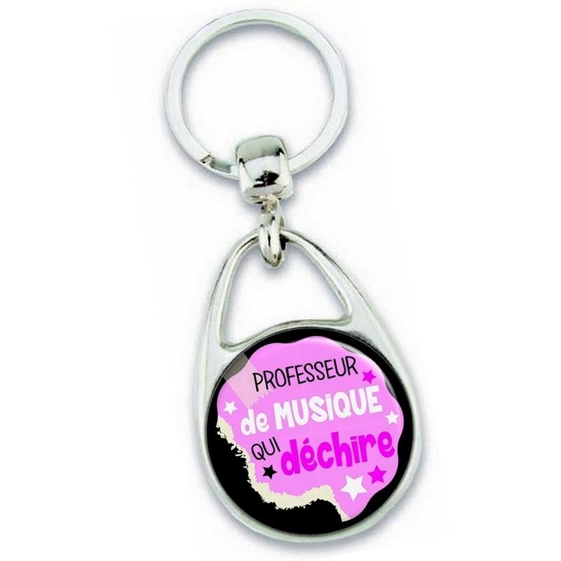 Porte clés professeur de musique - idée cadeau