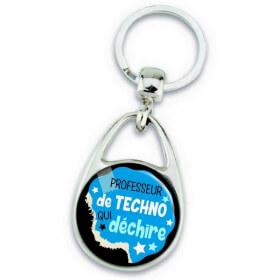 Porte clés professeur de techno - idée cadeau - Em création