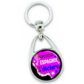 Porte clés professeur d'espagnol - idée cadeau - Em création