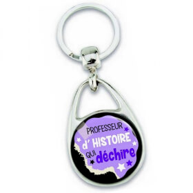 Porte clés professeur d'histoire - idée cadeau - Em création