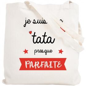 Tote bag Tata - Idée cadeau Tata/Tatie - Sac course Tata/Tatie - Angora - Em création