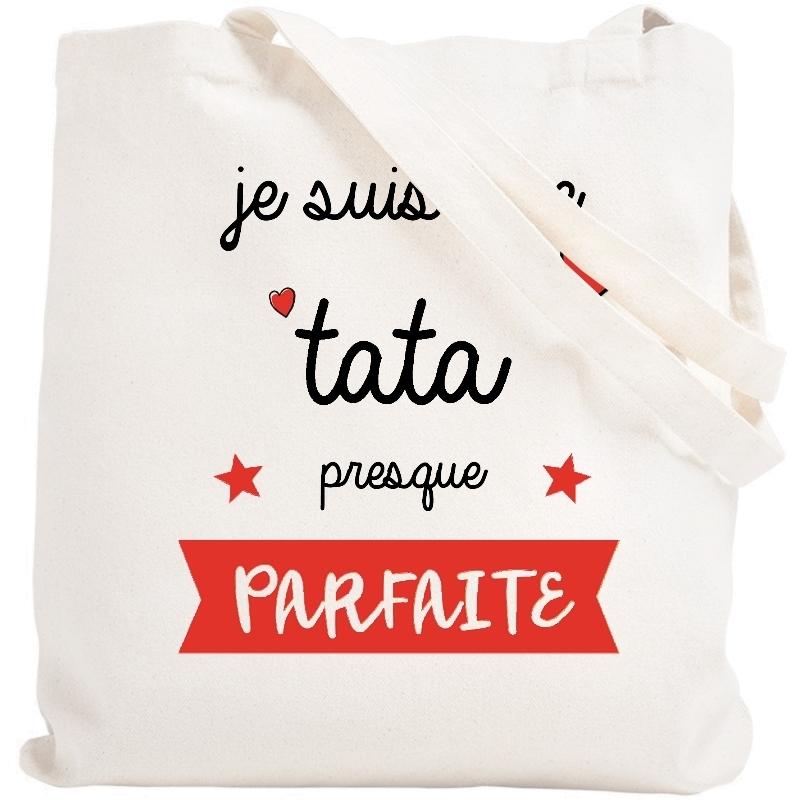 Tote bag Tata - Idée cadeau Tata/Tatie - Sac course Tata/Tatie - Angora