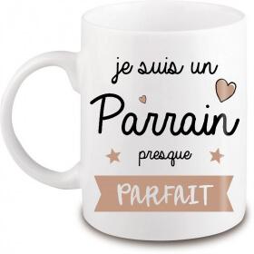 Mug Parrain - Cadeau pour parrain - Idée cadeau - Angora - Em création