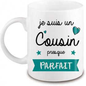 Mug Cousin - Idée cadeau - Anniversaire - Fête - Angora - Em création
