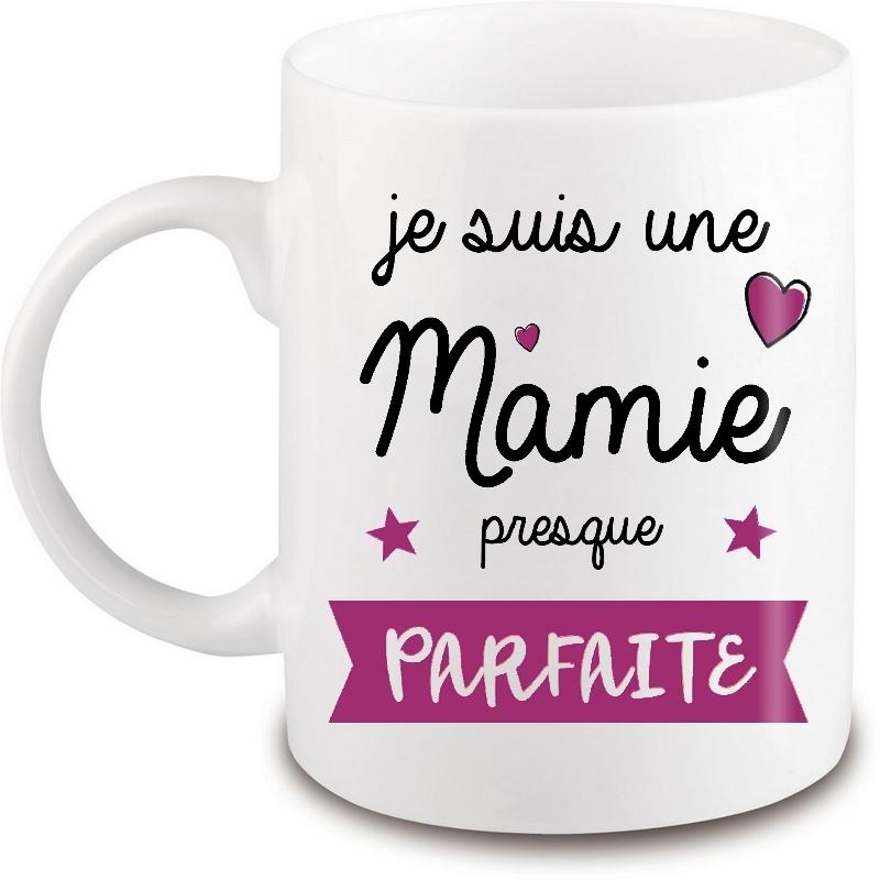 Mug Mamie - Tasse grand-mère - Anniversaire - Fête - Noël - Angora