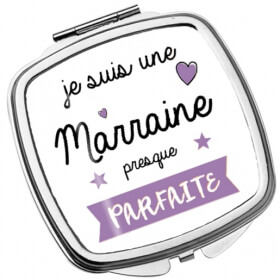 Miroir Marraine - Idée cadeau marraine - Angora - Em création