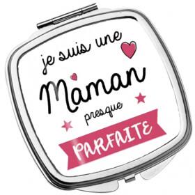 Miroir de poche Maman - Anniversaire - Idée cadeau Maman - Miroir Maman -Angora - Em création