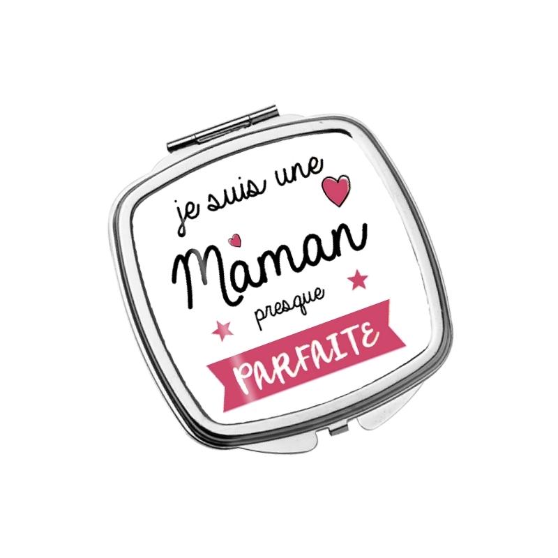 Miroir de poche Maman - Anniversaire - Idée cadeau Maman - Miroir Maman -Angora