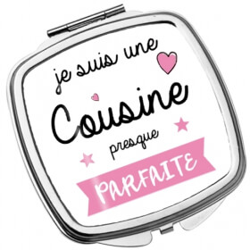 Miroir de poche Cousine - Idée cadeau Cousine - Angora - Em création