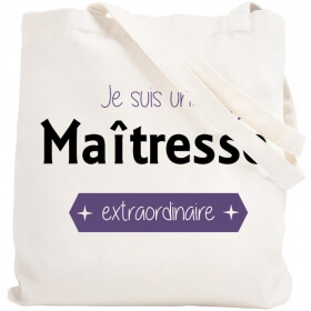 Tote bag maîtresse - Sac Shopping Maîtresse - Angora - Em création
