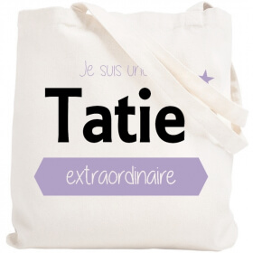 Tote bag Tatie - Idée cadeau Tatie - Em création