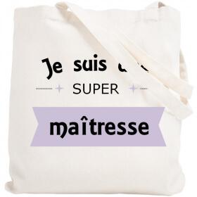 Sac shopping Maîtresse - Tote bag maitresse - Angora - Em création