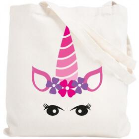 Tote bag Licorne - Sac shopping Licorne - Angora - Em création