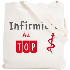 Tote bag Infirmière- Sac - Idée cadeau pratique - Sac shopping - angora - Em création