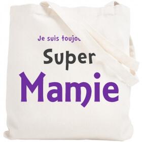 Tote bag Mamie - Idée cadeau - Anniversaire mamie - angora - Em création