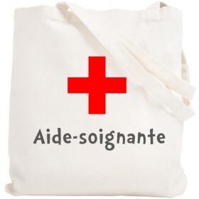 Tote bag Aide-Soignante - Sac shopping Aide soignante - angora - Em création