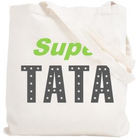Tote bag Tata - Idée cadeau Tata - Sca réutilisable Tata - angora - Em création