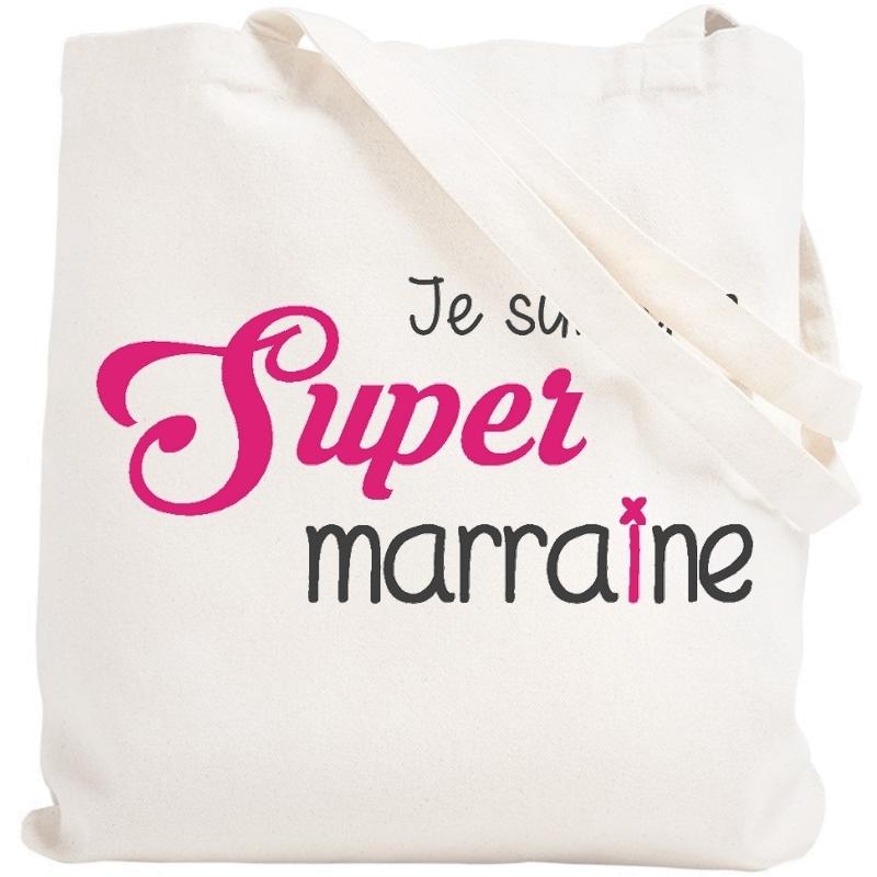 Tote bag marraine - Sac réutilisable Marraine - angora