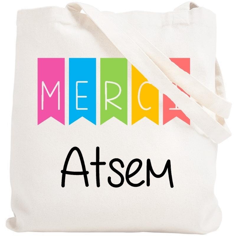 Tote bag Merci Atsem - Sac shopping Atsem - Idée cadeau atsem - angora