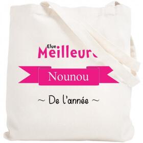 Tote bag Nounou - Sac course nounou - angora - Em création