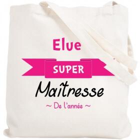 Sac shopping Maîtresse - idéé cadeau maîtresse - merci maitresse - tote bag maîtresse - Em création