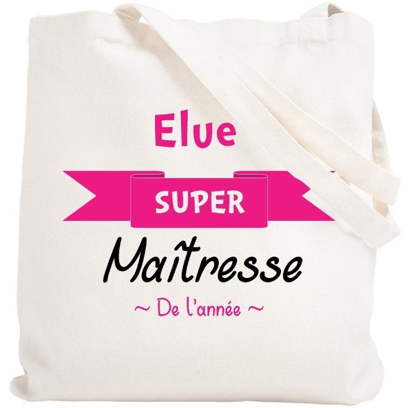 Sac shopping Maîtresse - idéé cadeau maîtresse - merci maitresse - tote bag maîtresse