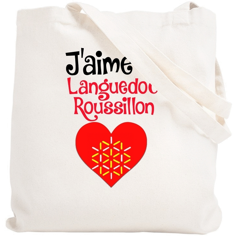 Tote bag Languedoc Roussillon - Sac shopping Languedoc Roussillon - Angora