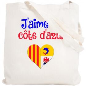 Tote bag Côte d'azur - Sac shopping Côte d'Azur - Angora - Em création