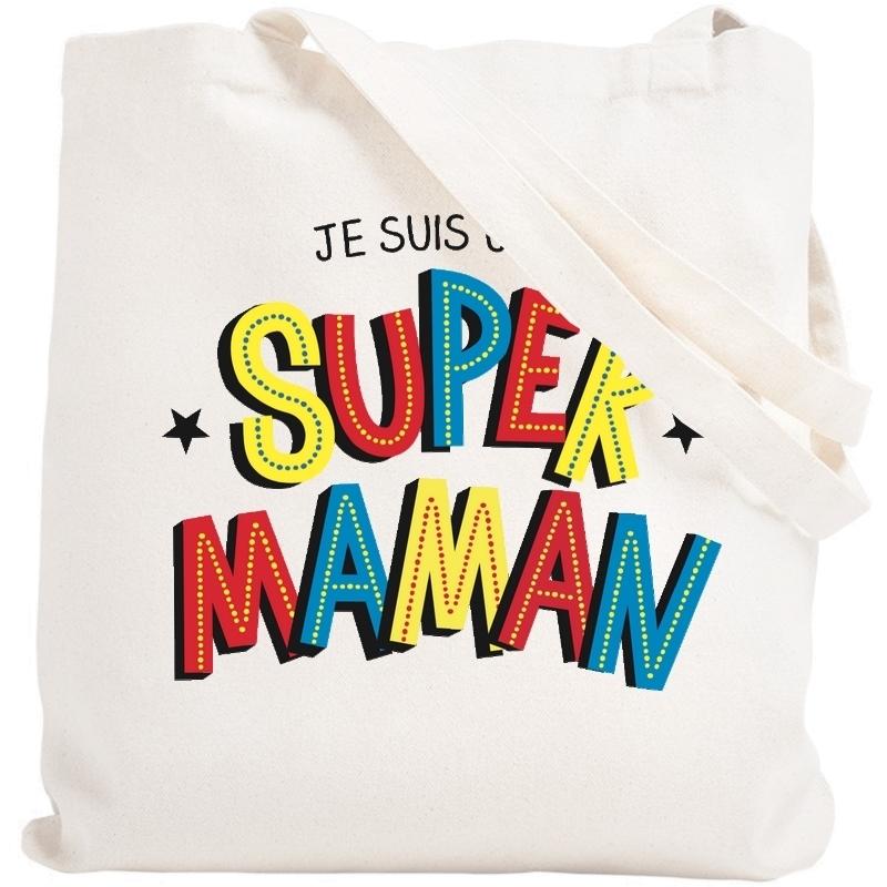 Tote bag maman - Sac shopping maman - idée cadeau maman - Angora - Em création